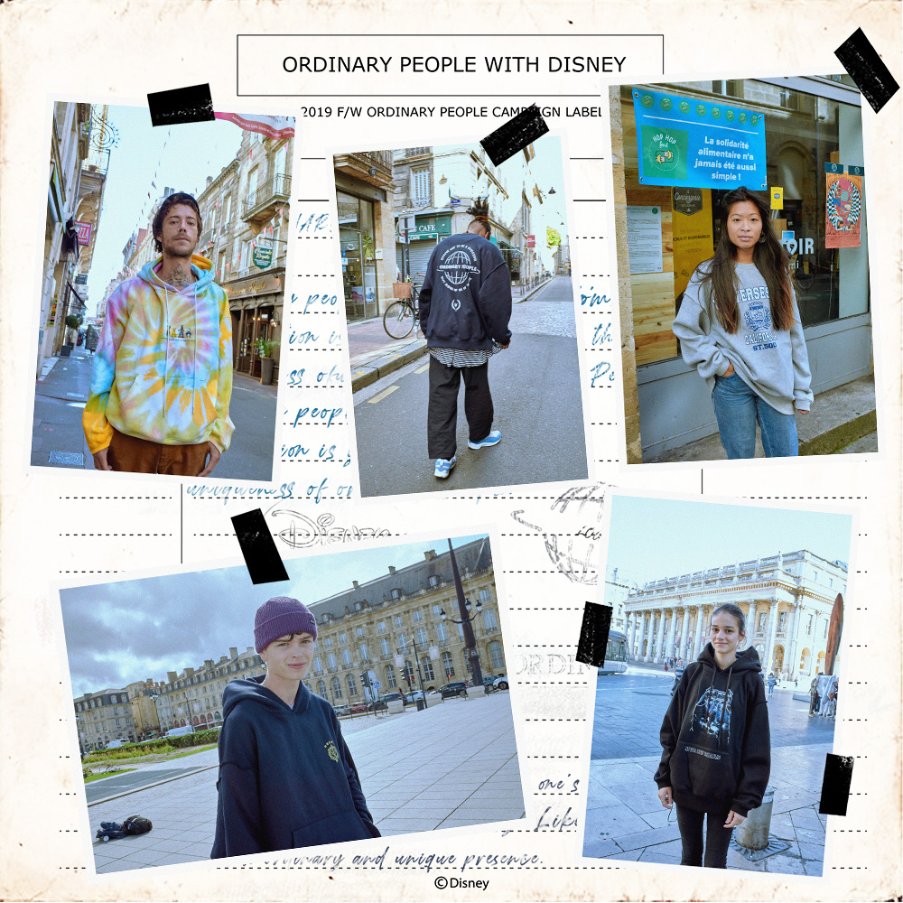 2019 F/W<br>ORDINARY PEOPLE X DISNEY<br> in Paris